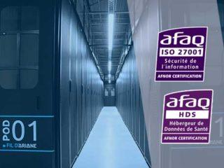 Les certifications ISO 27001 et HDS maintenues  pour le datacenter Fil d'Ariane de l'opérateur CELESTE