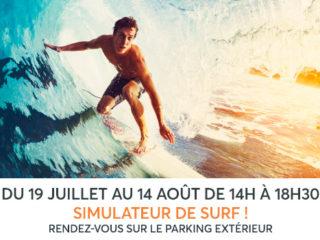 A VOS AGENDAS Vague de Surf déferle sur le Centre Commercial Aushopping Porte d'Espagne pour sa 2ème édition !